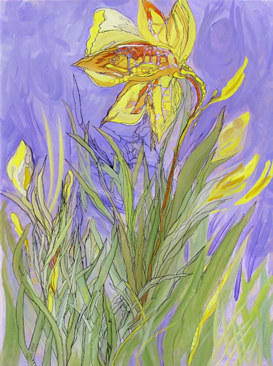 Botanicals-Struggle-of-the-Daffodil-painting_1