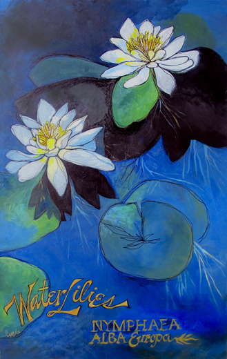 Botanicals-Water-Lilies-Painting_1